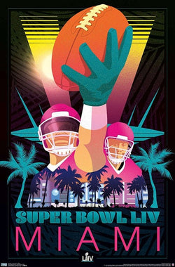 Super Bowl LIV (Miami 2020) Official Theme Art Commemorative Poster - Trends International