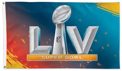 Super Bowl LV (Tampa 2/7/2021) Official Game Logo Deluxe-Edition 3'x5' Flag - Wincraft Inc.