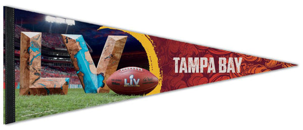 Super Bowl LV (Tampa 2021) Official Premium Felt Commemorative Event Pennant - Wincraft
