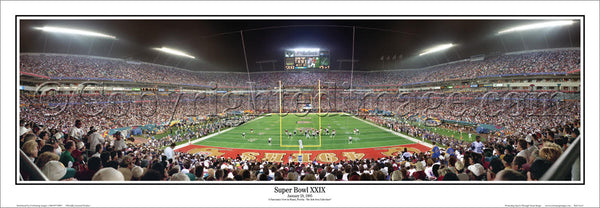 Super Bowl XXIX (Miami 1995) San Francisco 49ers vs. San Diego Chargers Panoramic Poster Print - Everlasting Images