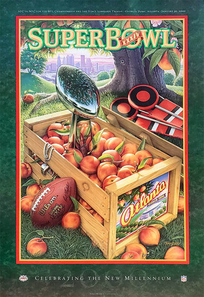 Super Bowl XXXIV (Atlanta 2000) Official NFL Event Poster - Action Images Inc.