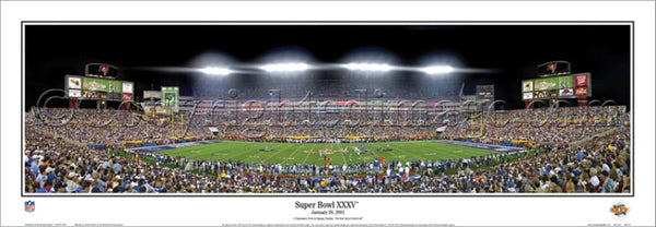 Super Bowl XXXV (Tampa 2001) Baltimore Ravens vs. New York Giants Panoramic Poster Print - Everlasting Images