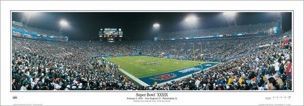 Super Bowl XXXIX (Patriots 24, Eagles 21) Panoramic Poster Print - Everlasting Images 2005