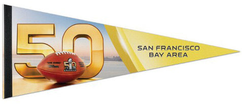 Super Bowl 50 (San Francisco Bay Area 2016) Official NFL Premium Felt Event Pennant - Wincraft