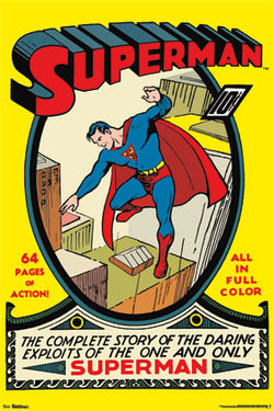 Superman #1 (Summer 1939) Official DC Comics Cover Poster Reprint - Trends International