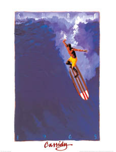 "Surfing ""1965"" Retro Art Poster Print - Front Line"