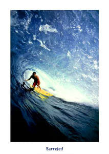 """Barreled"" (North Shore Oahu) - McGaw Graphics 2004"