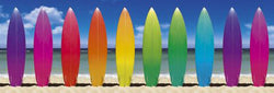 Surfboard Rainbow HUGE Wall-Sized Poster - GB Eye Inc.
