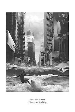 """Swell Time in Town"" (Surfing in Times Square) - I.C. 2005"