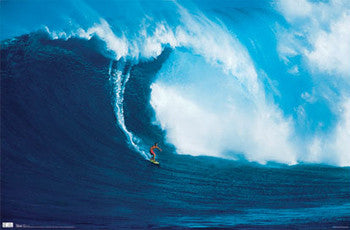 "Surfing Action ""Big Wave Surfer"" Poster - Costacos Sports"