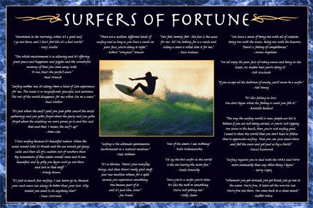 Surfers of Fortune Surfing Wisdom Poster - Aquarius/Mantis