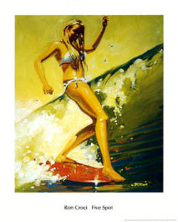 """Five Spot"" (by Ron Croci) - Surfing Artists International"