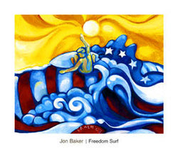 "Surfing ""Freedom Surf"" (by Jon Baker) - Surfing Artists International"