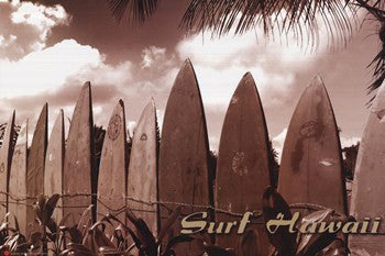 "Surfing ""Surf Hawaii"" Surfboard Lineup by Jason Ellis - Image Source"