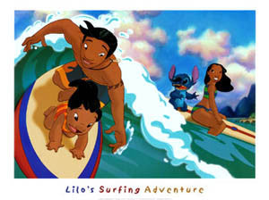 """Lilo's Surfing Adventure"" - Bruce McGaw Graphics 2006"