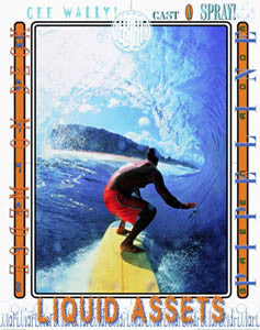 "Surfing ""Surf Attitude"" Motivational Poster - Front Line"