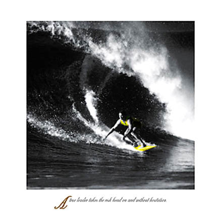 "Surfing ""True Leader"" HUGE Motivational Poster - Eurographics Giclee"