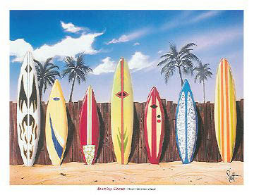 "Surfboards ""Starting Lineup"" by Scott Westmoreland - Sagebrush Fine Art"