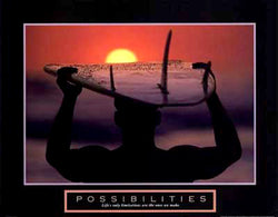 "Surfing ""Possibilities"" Motivational Poster - Front Line"