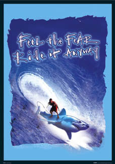 """Feel the Fear"" (Surfing on a Shark) - GB Posters 2004"