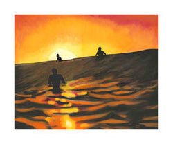 """Sunset Session"" (Phil DeAngelo) - Surfing Artists Int'l"