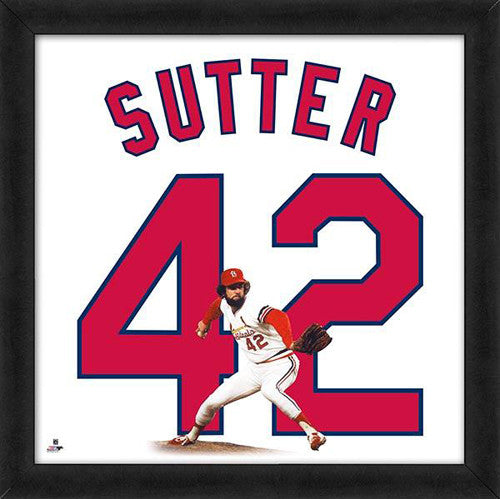 "Bruce Sutter ""Number 42"" St. Louis Cardinals MLB FRAMED 20x20 UNIFRAME PRINT - Photofile"