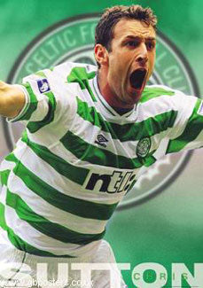 "Chris Sutton ""Celtic Pride"" Glasgow Celtic FC Poster - GB 2001"