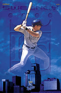 "Mike Sweeney ""Royal Blue"" Kansas City Royals Poster - Costacos 2003"