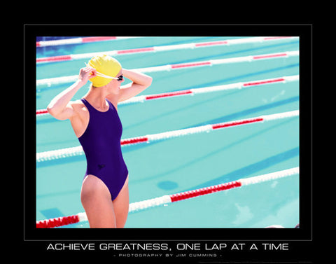 "Swimming ""Achieve Greatness"" Motivational Poster - SportsPosterWarehouse.com"