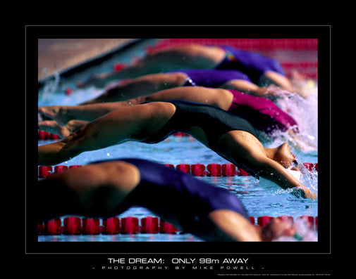 "Swimming ""The Dream"" (Women's Backstroke) Inspirational Poster - Sports Poster Warehouse"