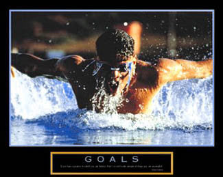 "Swimming ""Goals"" Motivational Poster - Paloma Editions"