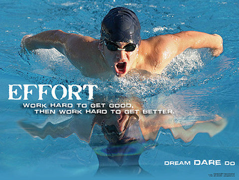 "Swimming ""Effort"" Motivational Inspirational Poster - Jaguar Inc."