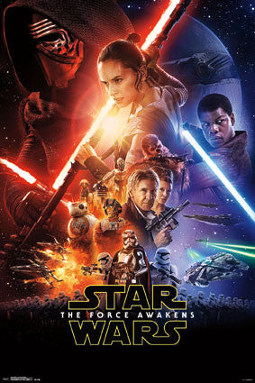 Star Wars The Force Awakens Official One-Sheet Movie Poster (24x36) - Trends International