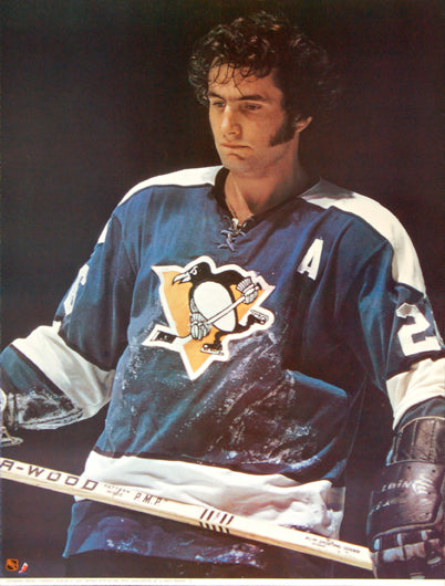 "Syl Apps ""Classic"" Pittsburgh Penguins NHL Hockey Poster - Sports Posters Inc. 1973"