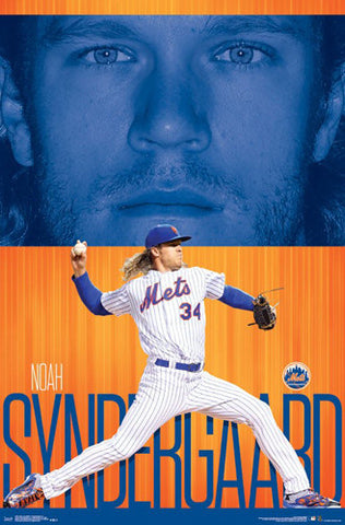 "Noah Syndergaard ""Ace"" New York Mets Official MLB Baseball Poster - Trends 2017"