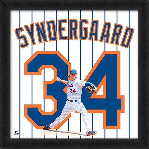 "Noah Syndergaard ""Number 34"" New York Mets FRAMED 20x20 UNIFRAME PRINT - Photofile"