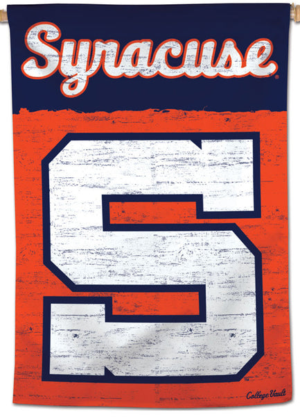 Syracuse Orangemen NCAA College Vault Series 1950s-Style Official NCAA Premium 28x40 Wall Banner - Wincraft Inc.