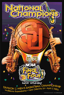 Syracuse Orangemen Basketball 2003 NCAA National Champions Commemorative Poster