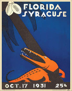 Syracuse Orangemen 1931 vs. Florida Vintage Program Cover Poster Print - Asgard Press