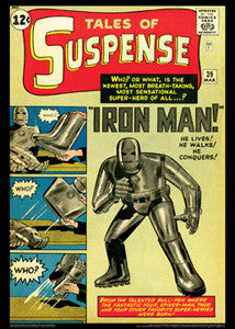 "Tales of Suspense #39 (""Iron Man Is Born!"") Vintage Marvel Cover Poster Reprint"