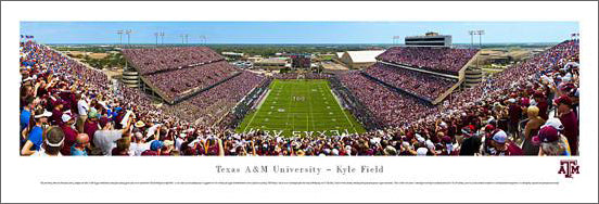 "Texas A&M Aggies Football ""Opener 2012"" Panoramic Poster Print - Blakeway Worldwide"