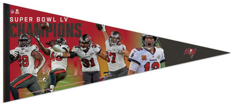 Tampa Bay Buccaneers Super Bowl LV MOMENTS (2021) Extra-Large 17x40 Premium Felt Collector's PENNANT - Wincraft