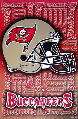 Tampa Bay Buccaneers Official NFL Team Helmet Logo Poster - Starline Inc.