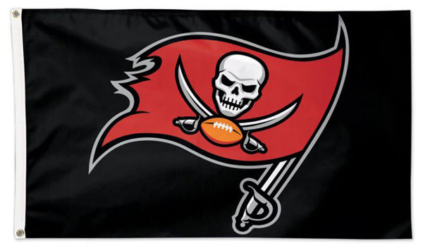 Tampa Bay Buccaneers Official NFL Football Team Logo Deluxe 3' x 5' Flag - Wincraft Inc.