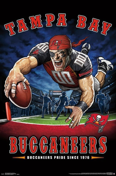 "Tampa Bay Buccaneers ""Buccaneers Pride Since 1976"" NFL Theme Art Poster - Liquid Blue/Trends Int'l."