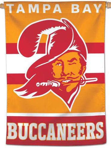 Tampa Bay Buccaneers Retro-1970s-Style Official NFL Football Wall BANNER Flag - Wincraft Inc.