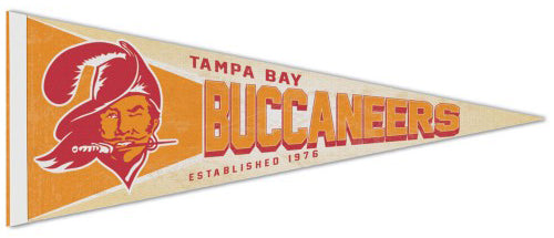 Tampa Bay Buccaneers NFL Retro 1976-96 Style Premium Felt Collector's Pennant - Wincraft Inc.