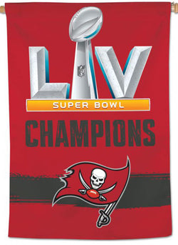 "Tampa Bay Buccaneers SUPER BOWL LV CHAMPIONS (2021) Official NFL 28"" x 40"" BANNER - Wincraft Inc."