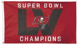 Tampa Bay Buccaneers SUPER BOWL LV (2021) CHAMPIONS Deluxe-Edition 3'x5' FLAG - Wincraft