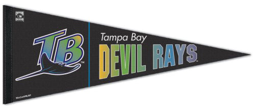 Tampa Bay Devil Rays Retro-1990s-Style MLB Coooperstown Collection Premium Felt Pennant - Wincraft